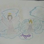 angels, angel, halo, wings, Mother, Mother's Day
